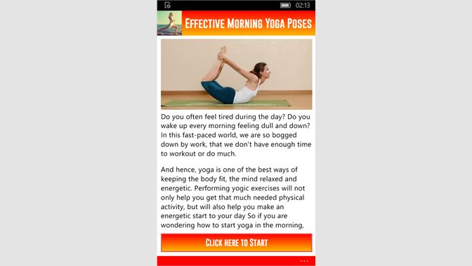 Get Effective Morning Yoga Poses - Microsoft Store