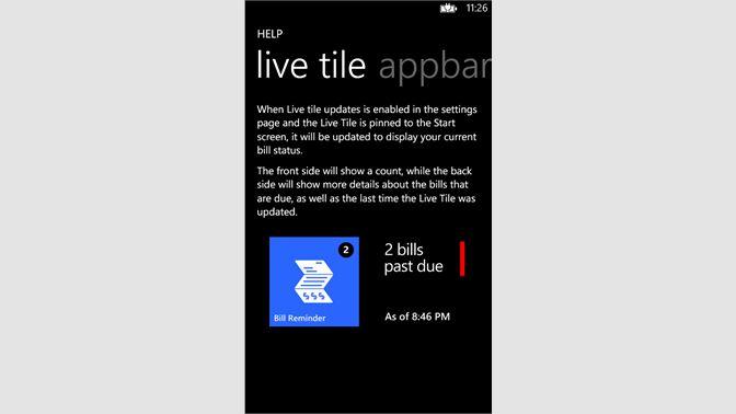 Buy Bill Reminder - Microsoft Store