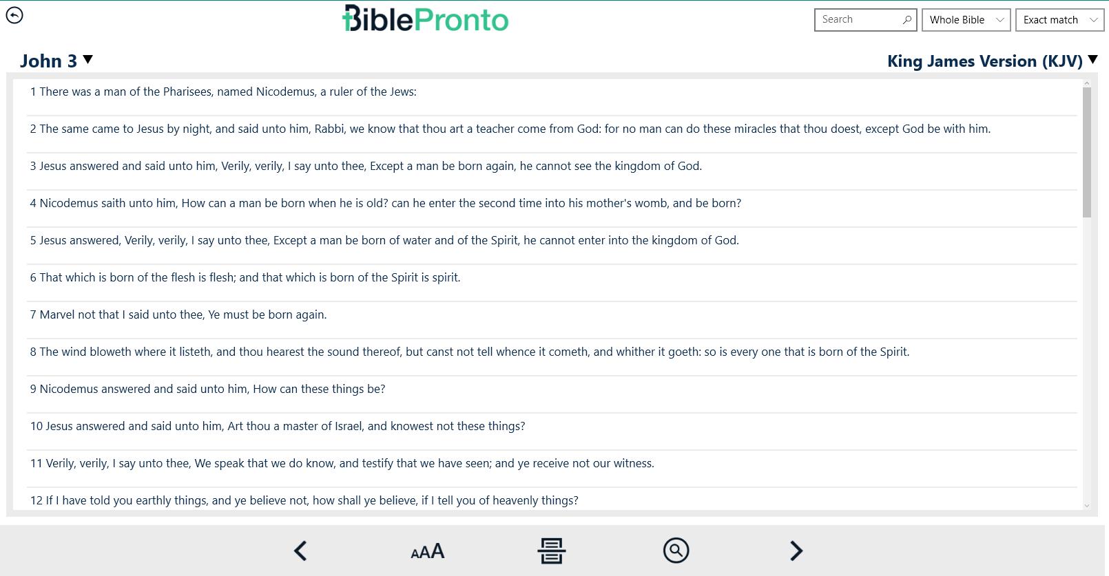 Bible Pronto for Windows 10
