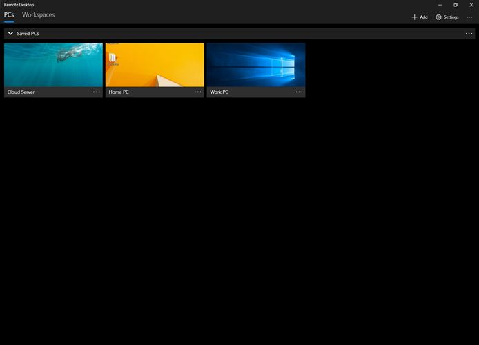 Microsoft Remote Desktop Screenshot