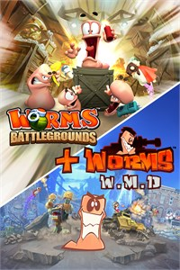 Carátula para el juego Worms Battlegrounds + Worms W.M.D de Xbox One