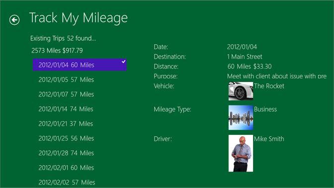 get track my mileage microsoft store