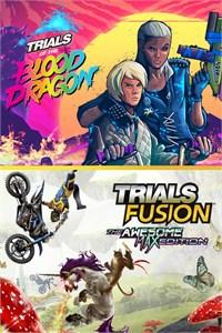 Carátula para el juego TRIALS OF THE BLOOD DRAGON + TRIALS FUSION AWESOME MAX EDITION de Xbox 360
