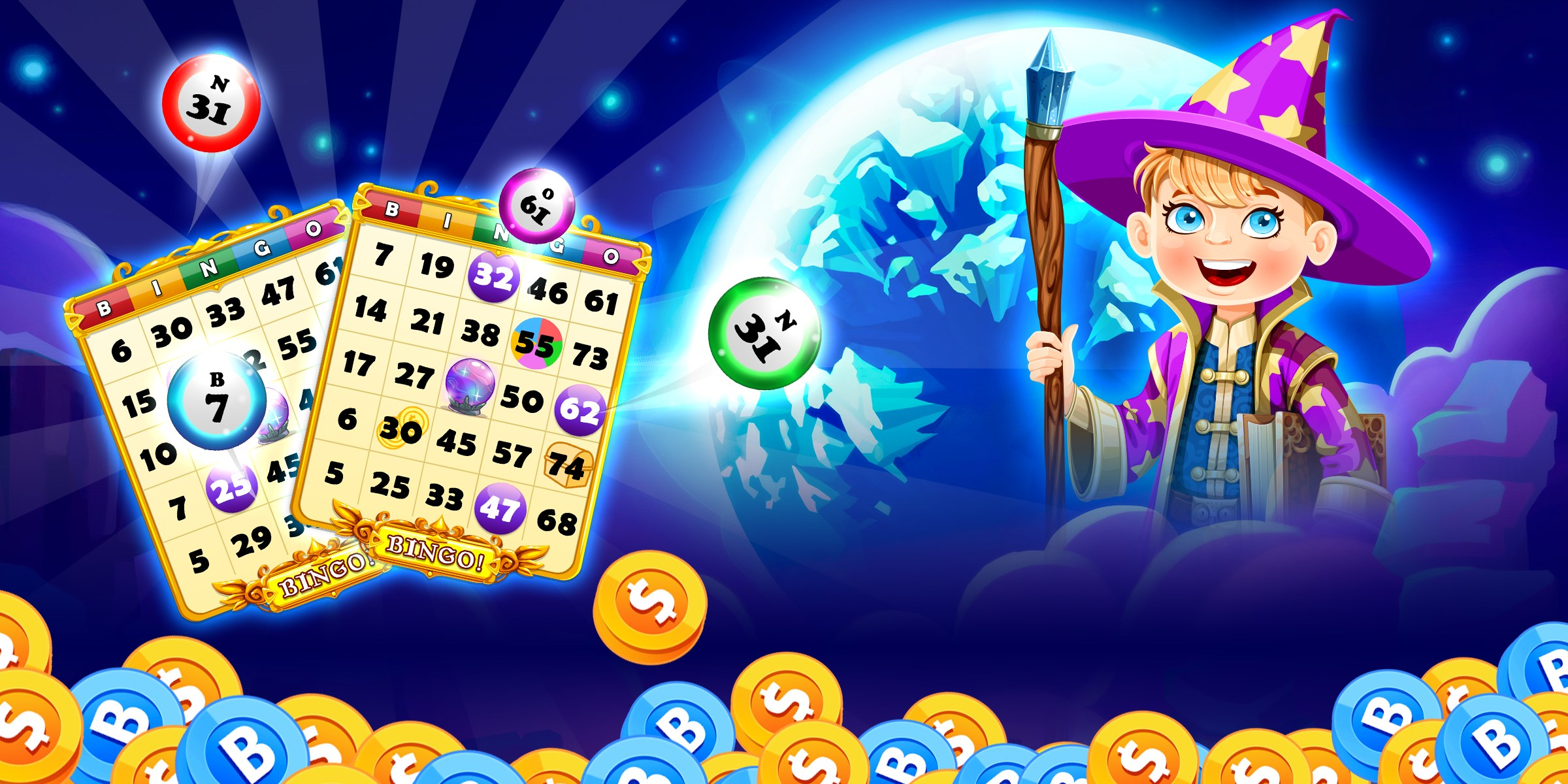 Wizard bingo free
