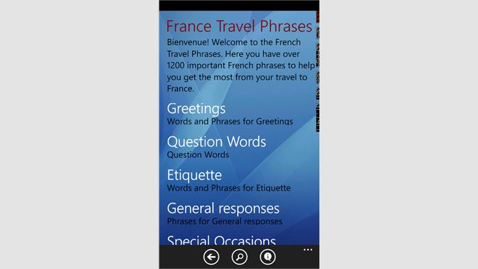 Get france travel phrases microsoft store screenshot 1 m4hsunfo