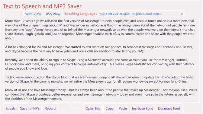 Buy Text to Speech and MP3 Saver - Microsoft Store en-CA