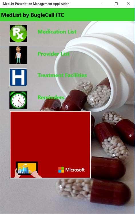 MedList Prescription Management Application Screenshots 1