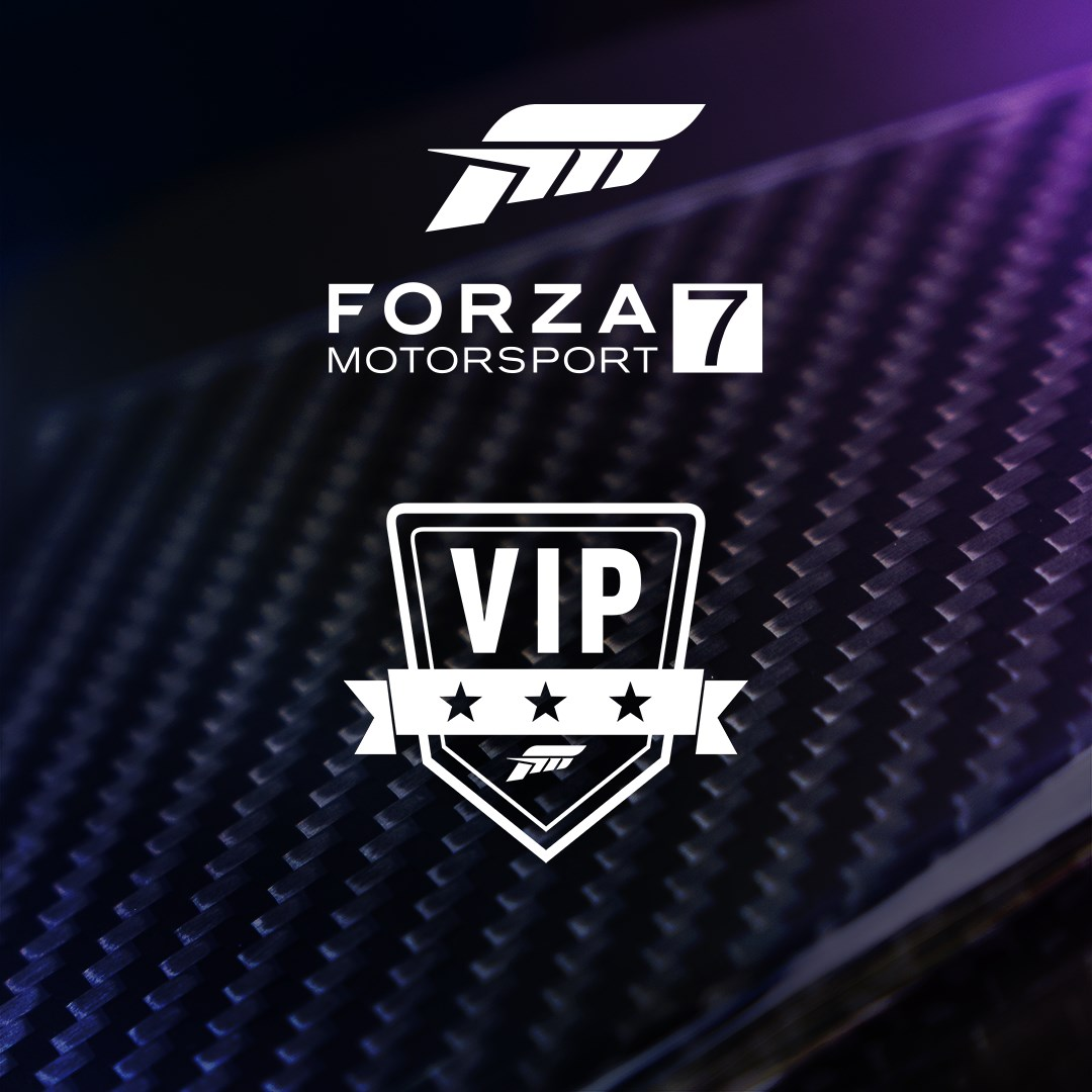 Forza Motorsport 7 VIP, VIP logo on an abstract textured background