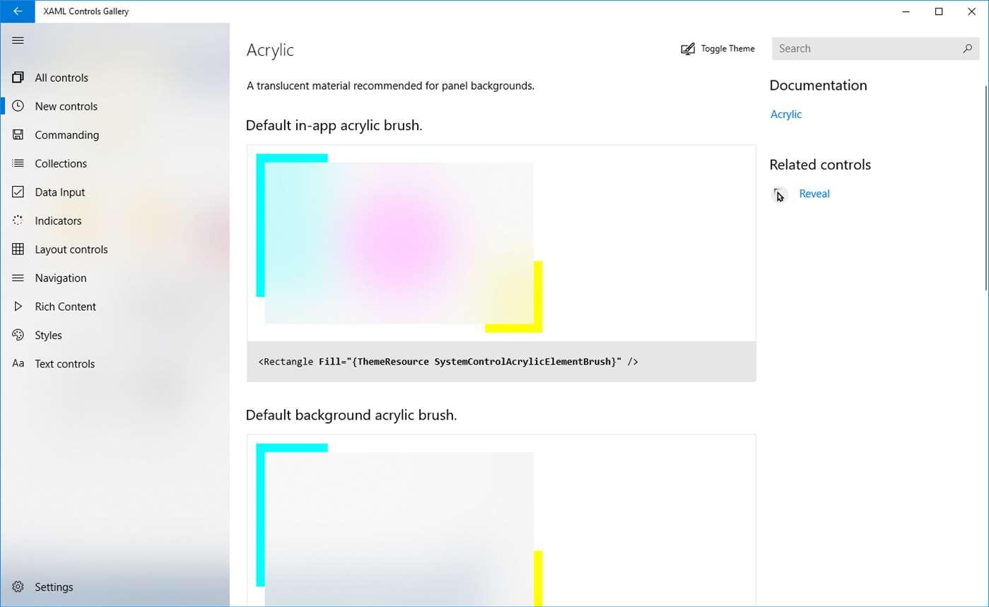 Microsoft release new XAML Controls Gallery app to help