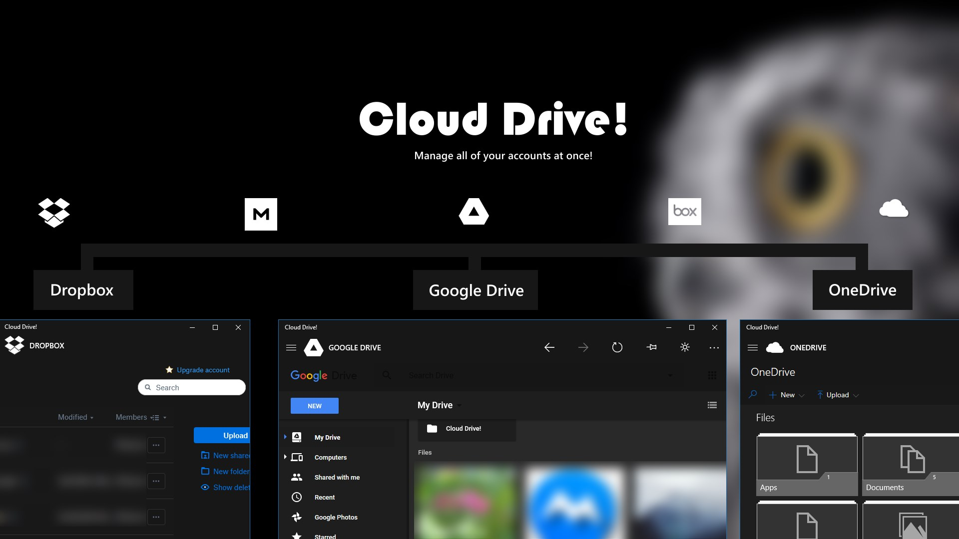 Get Cloud Drive! : OneDrive, Dropbox, Google Drive and more