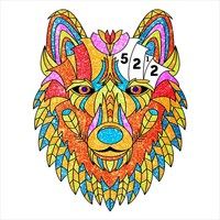 Animals Glitter Color by Number - Coloring Book pages ...