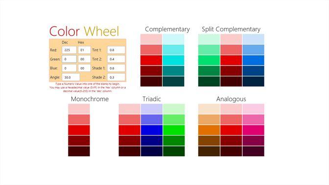 Get Color Wheel A Color Scheme Generator Microsoft Store