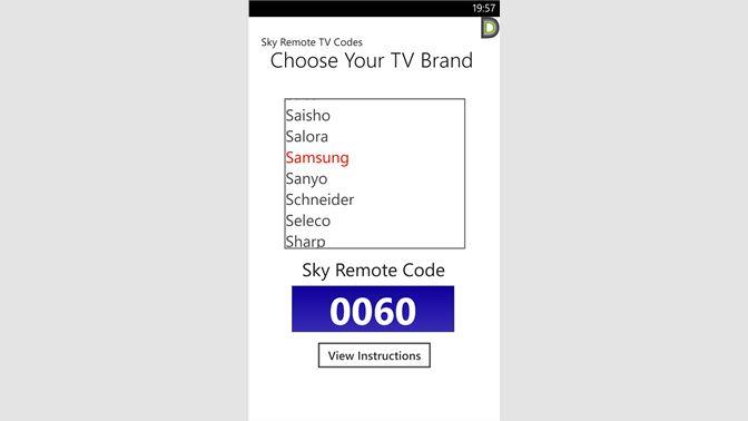 Get Sky TV Code Finder - Microsoft Store