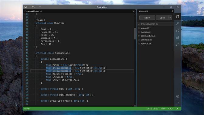get code writer microsoft store