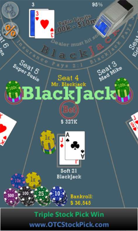 Advanced 21 Blackjack Screenshots 1