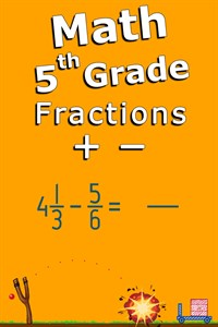 Add and subtract fractions - 5th grade math skills
